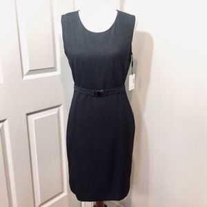 Calvin Klein Grey Belt Sheath Dress Size 4